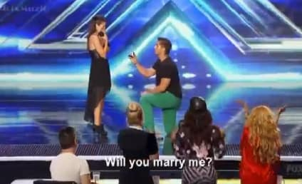 X Factor Contestant Proposes to Girlfriend on Stage