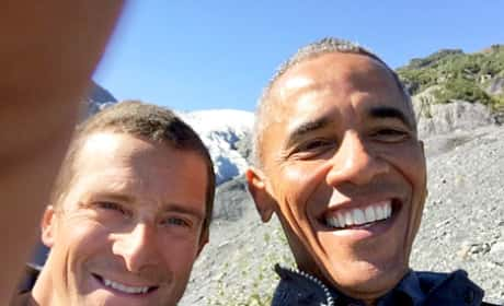 Obama and Bear Grylls Selfie