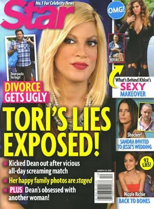 Tori Spelling Divorce Cover