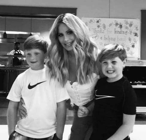Kim Zolciak with Kash and KJ