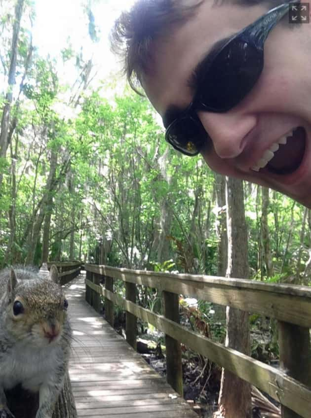 Selfie with a Squirrel