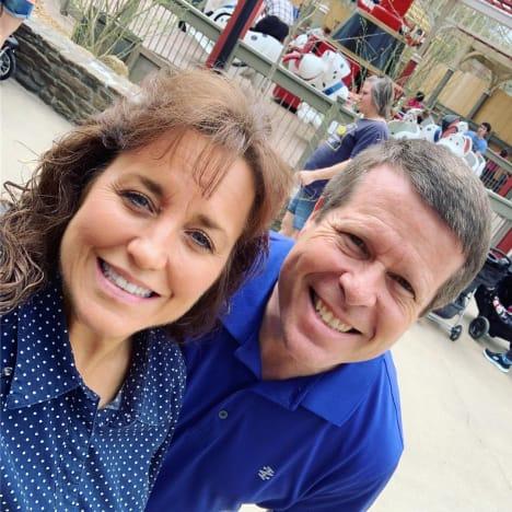 Michelle Duggar and Jim Bob Duggar in Silver Dollar City