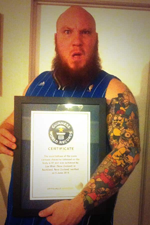 Tattoo Record Holder