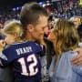 Gisele Bundchen Kisses Tom Brady