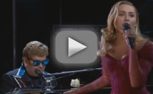 "Elton John and Miley Cyrus Stun With ""Tiny Dancer"" Duet!"