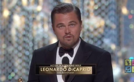Leonardo DiCaprio Talks Climate Change in Oscars Acceptance Speech
