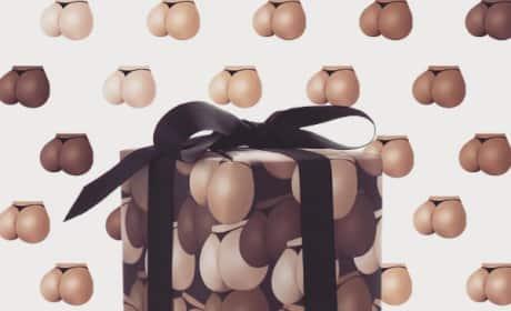 Kim Kardashian: Wrap Your Next Gift With My Butt Cheeks!