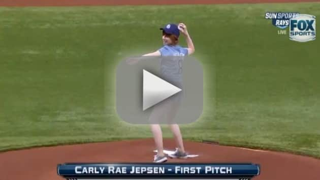 Carly Rae Jepsen First Pitch