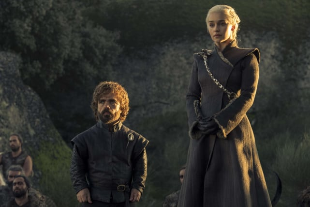 Tyrion and daenerys look concerned