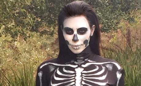 Kim Kardashian as a Skelton