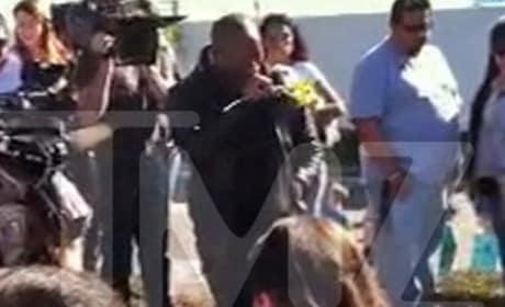 Tyrese Breaks Down at Paul Walker Crash Site