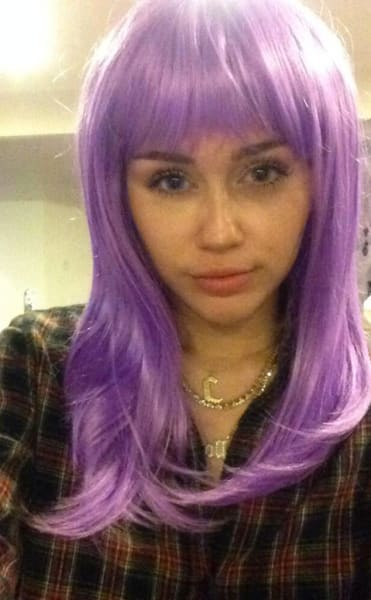 Miley Cyrus with Purple Hair