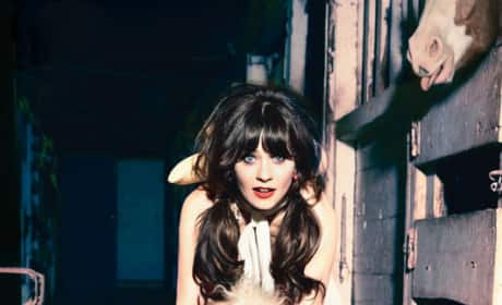 Zooey Deschanel in Glamour Pic