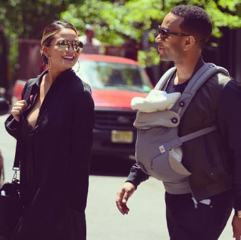 John Legend and Chrissy Teigen With Baby