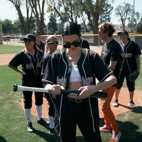 Kim at bat