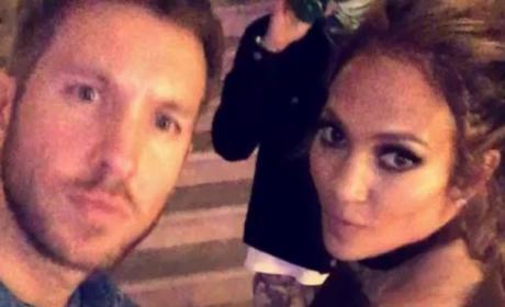 Calvin Harris, Jennifer Lopez Dance At Her Birthday Party