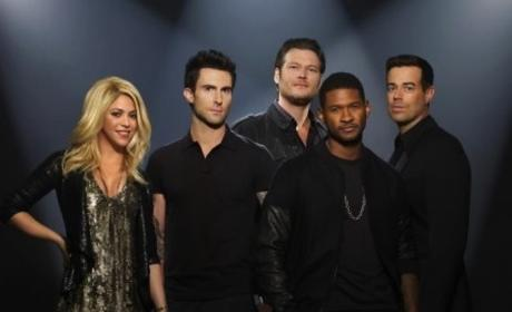 Grade Usher and Shakira on The Voice.