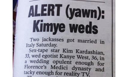 """Kimye Wedding SKEWERED By New York Post in Awesome """"Article"""""""