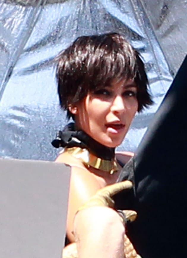 Wigged Kim Kardashian