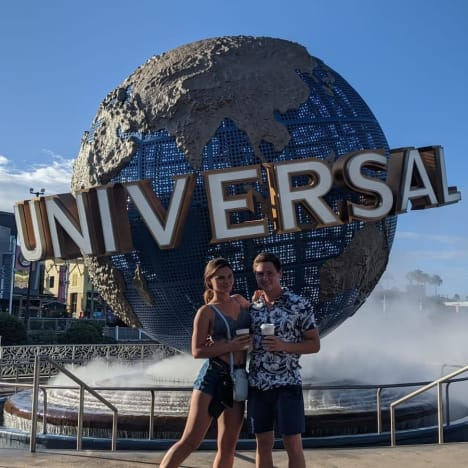 Julia Trubkina and Brandon Gibbs at Universal