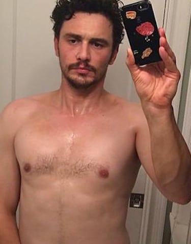 James Franco Shirtless Selfie