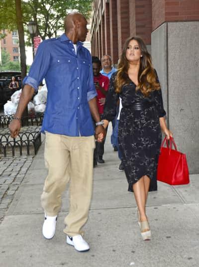 Khloe Kardashian and Lamar Odom in NYC