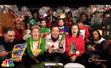 """One Direction, Jimmy Fallon & The Roots Perform """"Santa Claus is Coming to Town,"""" Rock Awesome Christmas Sweaters"""