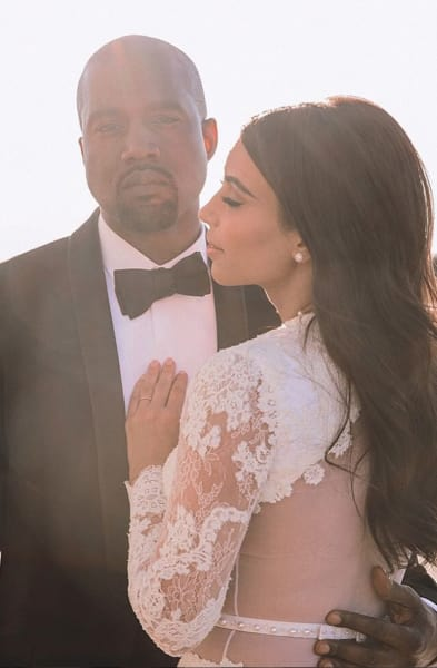 Kimye Marriage Pic