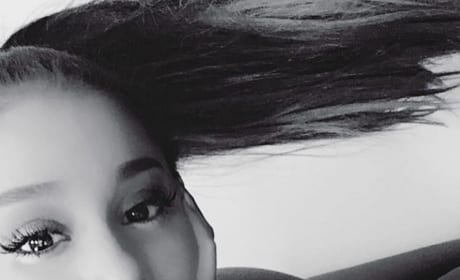 Ariana Grande Puckers Up
