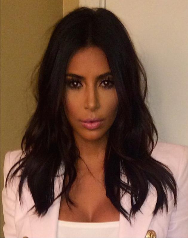 Kim Kardashian Haircut Photo