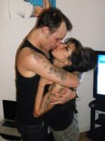 Blake Fielder-Civil and Amy Winehouse Kissing