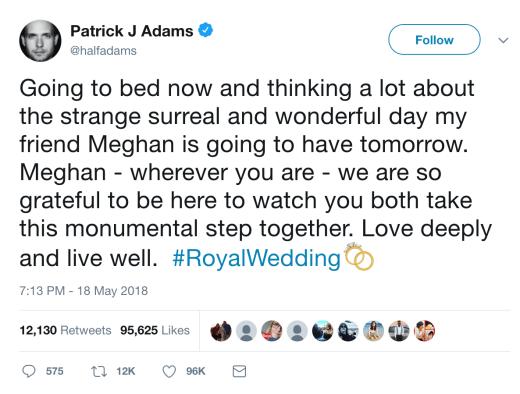 Patrick J. Adams tweet1