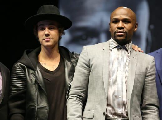 Justin Bieber with Floyd Mayweather