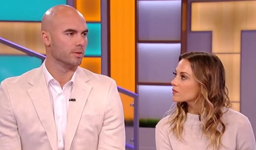Mike Caussin and Jana Kramer Looking Tense