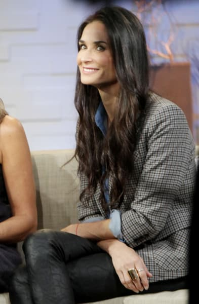 Demi Moore on the Couch