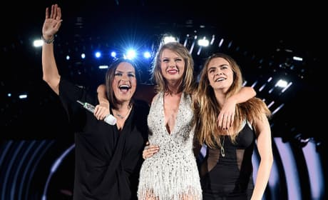 Taylor Swift Invites Mariska Hargitay and Cara Delevingne on Stage