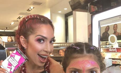 Farrah Abraham with Sophia at Sephora
