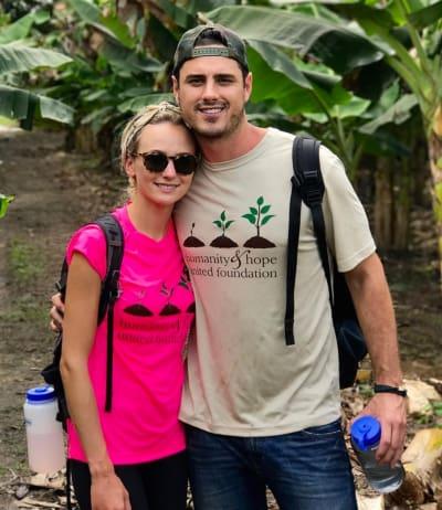 Ben Higgins and Lauren Bushnell Pose