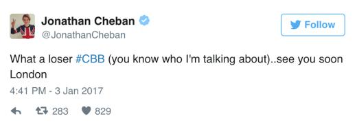 cheban tweet