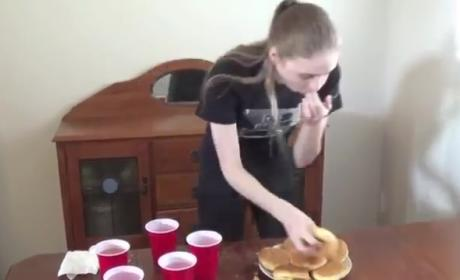Model Scarfs 20 Cheeseburgers in Under 17 Minutes
