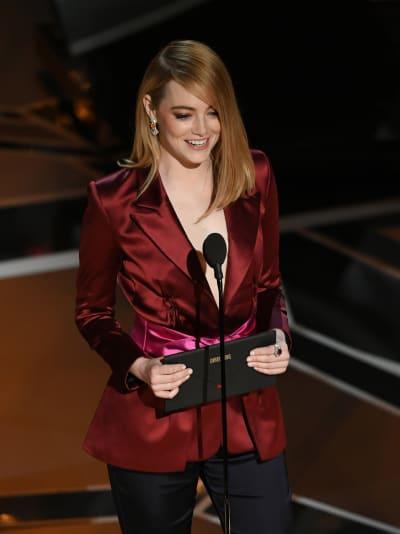 Emma Stone Announces the Winner