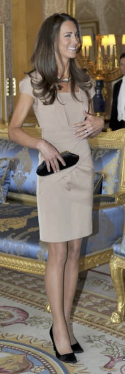 Kate Middleton, Tan Dress