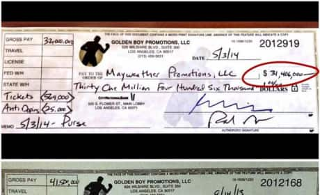 Floyd Mayweather Checks