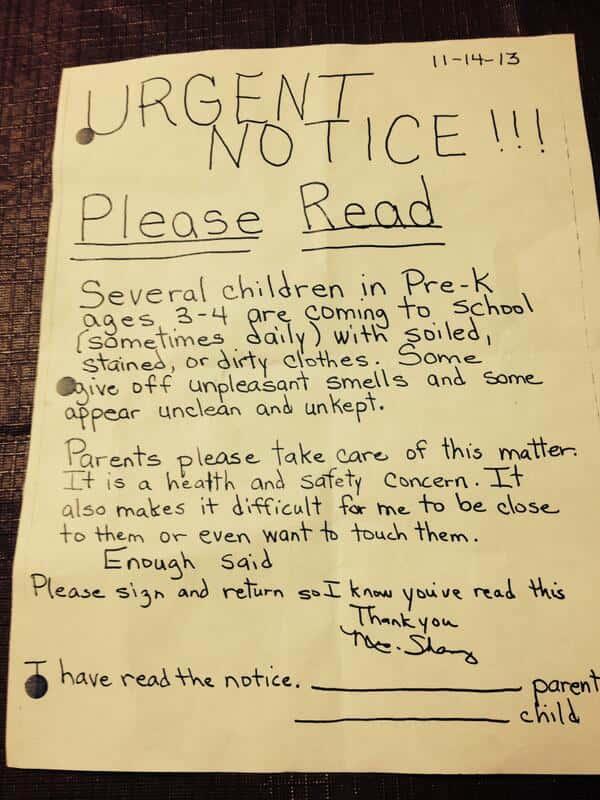 Stinky Kid Note