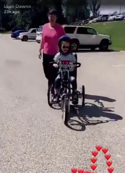 Ali Simms Rides a Bike