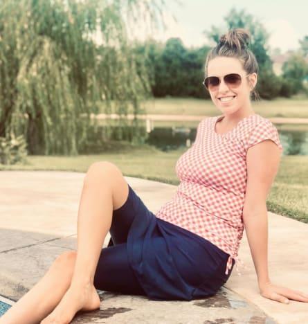 Jill Chills Poolside