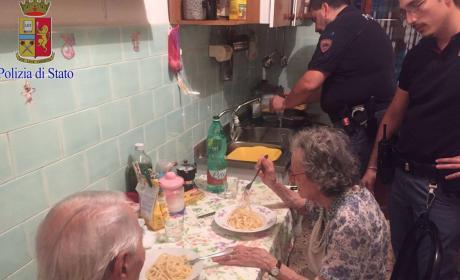 Police Cook Dinner for Elderly Roman Couple