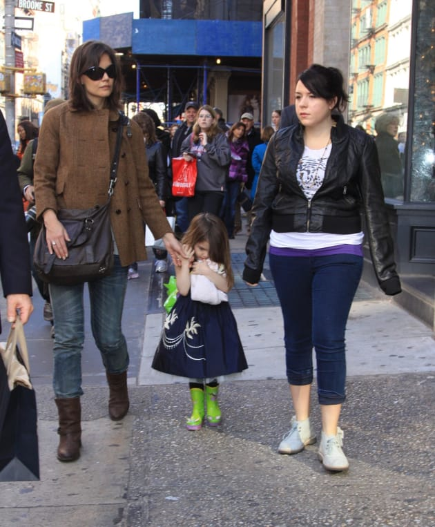 Katie Holmes and Isabella Cruise