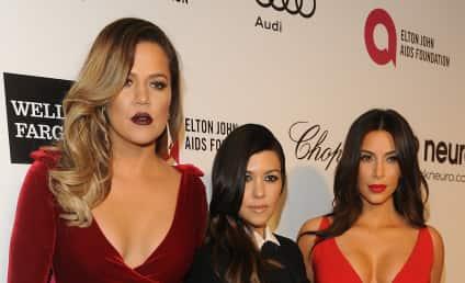 Kardashians Kongregate at Elton John Oscars Party: See the Pics!