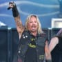 Vince Neil performs during the 38th Annual Toyota Pro/Celebrity Race concert at the Grand Prix of Long Beach